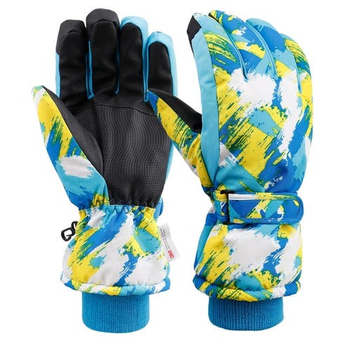 Skiing Gloves Womens Waterproof Touchscreen 3M Thinsulate Lined Ski Gloves with Non-Slip PU Palms