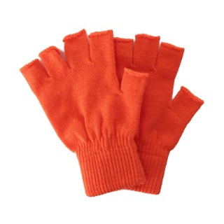Winter Fingerless Gloves without Flap Cover Mitten Gloves