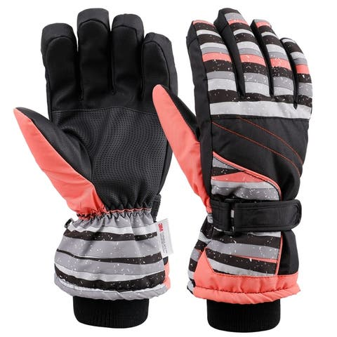 Womens Touchscreen Waterproof 3M Thinsulate Lined Ski Gloves