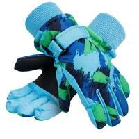 Kids Winter Waterproof Thinsulate Lining Snow Ski Gloves Graffiti