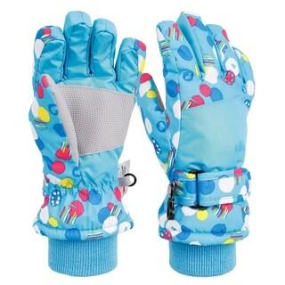 Kid's Sportswear Waterproof Insulated Ski Gloves