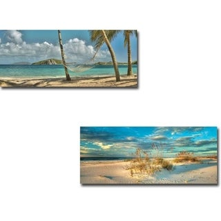 Beach Dream I and II by Doug Cavanah 2-piece Gallery Wrapped Canvas Giclee Art Set (Ready to Hang)