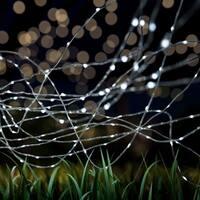 Starry Solar String Lights Cool White Fairy LED Lights Pure Garden