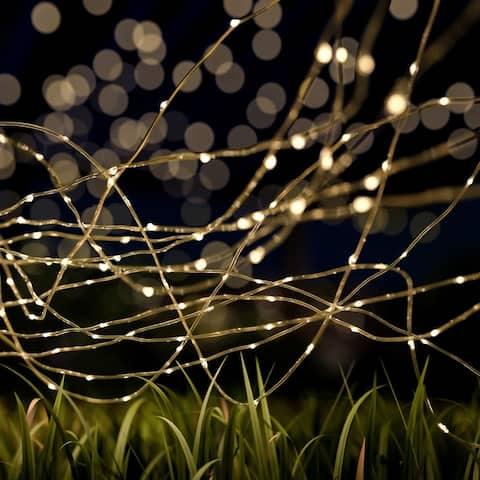 Starry Solar String Lights Warm White Fairy LED Lights Pure Garden