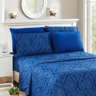 Paisley Printed 6 Piece Deep Pocket Ultra Soft Bed Sheet Set