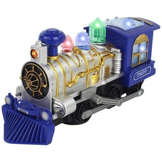Bump and Go High Speed Battery Operated Train Car with Lights and Music for Kids