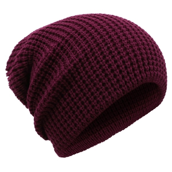 Men's Winter Thick Knit Slouchy Fit Outdoors Ski Beanie Hat. Opens flyout.