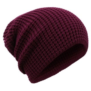 Men's Winter Thick Knit Slouchy Fit Outdoors Ski Beanie Hat