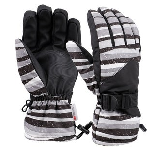 Mens Touchscreen Weatherproof 3M Thinsulate Lined Snow Ski Gloves