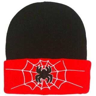 Spider Hat Black Children's Knitted Warm HatCrochet Cap