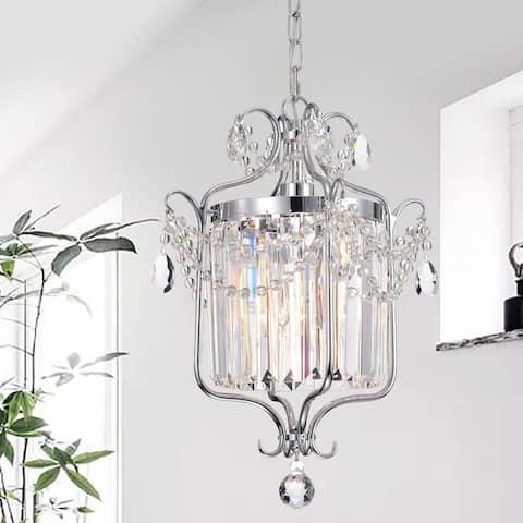 Celest 12-inch Crystal Pendant Lamp Chrome Finish