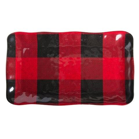 TAG Buffalo Melamine Rectangular Platter Red