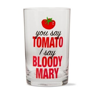 TAG I Say Bloody Mary Glass Red
