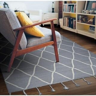 Hand-Woven Segismundo Granada Gray Wool Area Rug - 8' x 10'