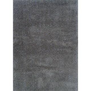 Hand-crafted Boerum Hill Shag Gauntlet Gray Area Rug - 2' x 4'