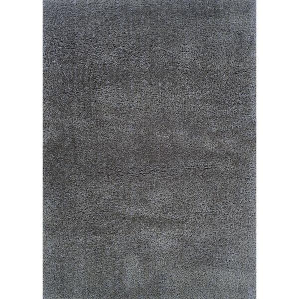 Hand-crafted Boerum Hill Shag Gauntlet Gray Area Rug - 8' x 10'
