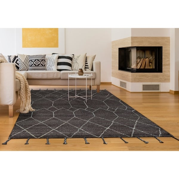 """Hand-Knotted Cusco Ausangate Brown Wool Area Rug - 7'6"""" x 9'6"""""""