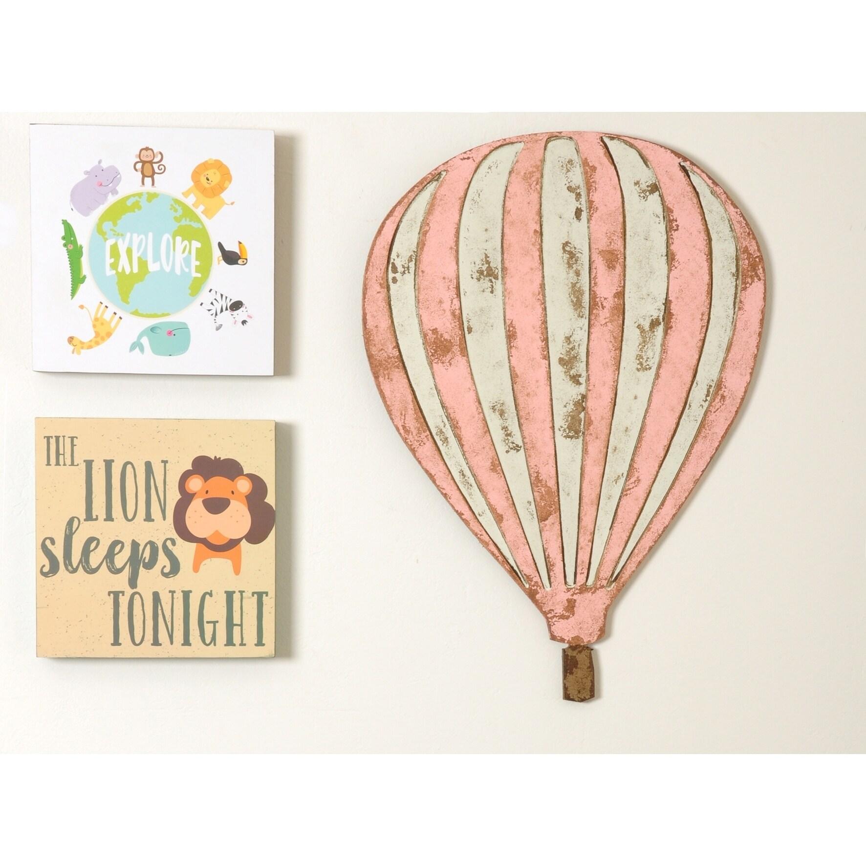 Hot Air Balloon Vintage Wall