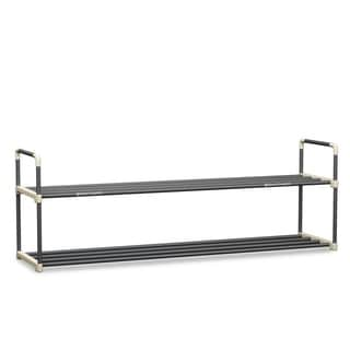 Shoe Rack with 2 Shelves-Two Tiers for 12 Pairs Home-Complete