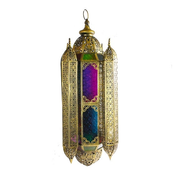 Essential Decor & Beyond Goldtone Metal Traditional Lantern