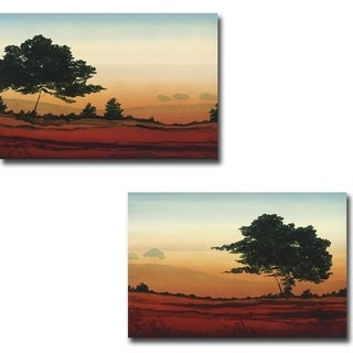 Sunrise I and II by Robert Charon 2-piece Gallery Wrapped Canvas Giclee Art Set (Ready to Hang)