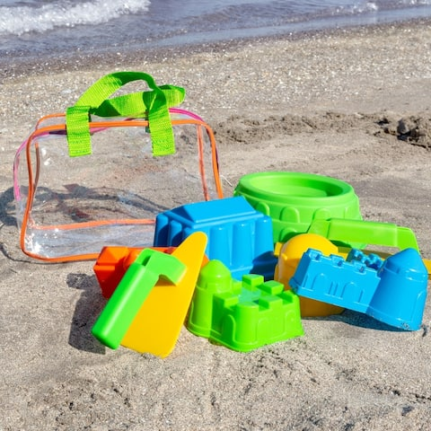 Beach Sand and Water Toy Set for Kids BPA Free Hey! Play! - 9.5 x 6 x 6.5