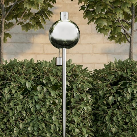 """Torch Lamp 45"""" Stainless Steel Fuel Canister Pure Garden"""