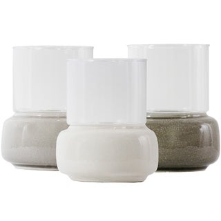 Essential Decor & Beyond Ceramic and Glass Votive Holder EN111954 - 6.5 x 6.5 x 10