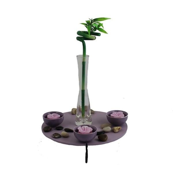 Essential Decor & Beyond Wood Tealight EN5240 - 9.5 x 9.5 x 13