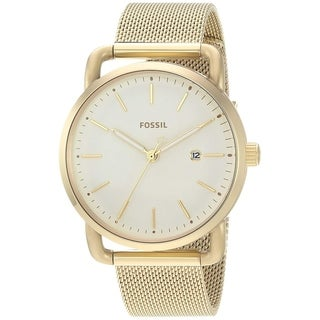 Fossil Women's ES4332 The Commuter Gold Stainless Steel Mesh Bracelet Watch