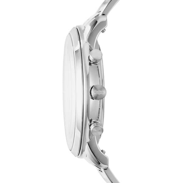 Fossil Men S Fs5384 Neutra Chronograph Black Dial Stainless Steel Bracelet Watch