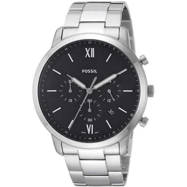 Fossil Men's FS5384 Neutra Chronograph Black Dial Stainless Steel Bracelet Watch