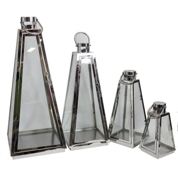 Essential Decor & Beyond Metal Lanterns (Set of 4)