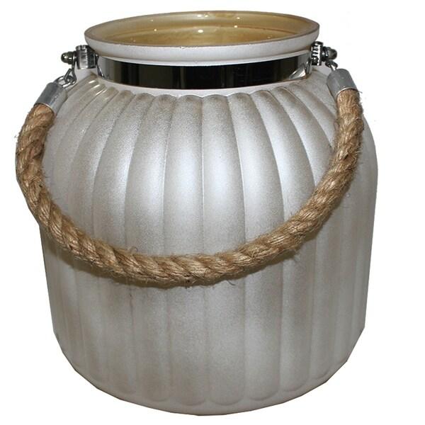 Essential Decor & Beyond Glass Lantern EN111700 - 9.4 x 7 x 7