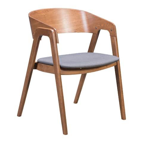 Alden Dining Arm Chair Walnut & Dark Gray (Set of 2) - 21.9L x 21.7W x 29.9H