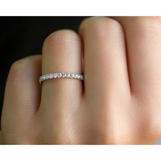 Link to Annello by Kobelli 14k Gold 1/2 Carat TDW Diamond 3-Quarter Eternity Wedding Band Similar Items in Wedding Rings