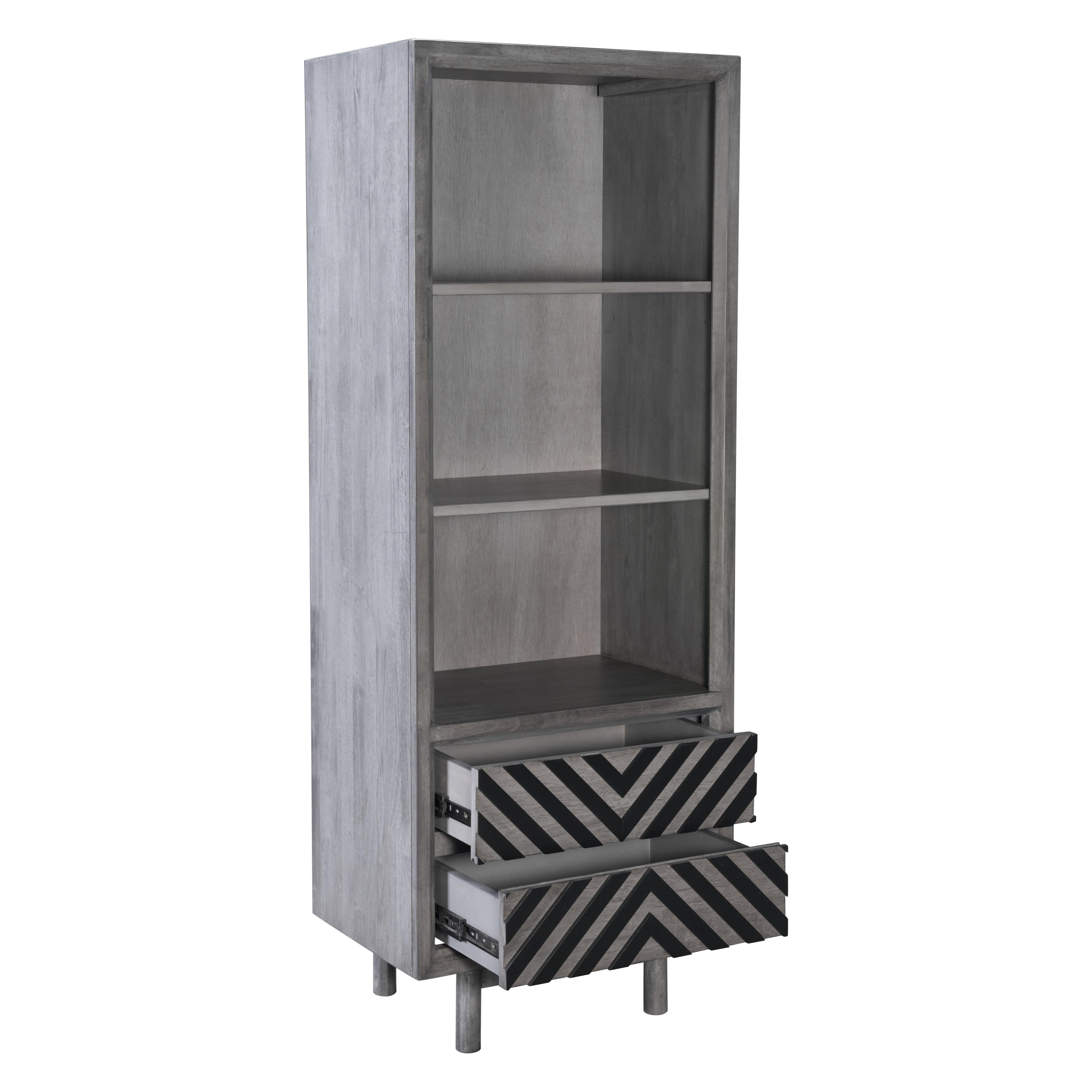 Raven Narrow Tall Old Grey Shelf
