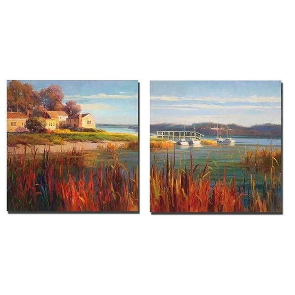 Harbor Home I and II by E. B. Kentworth 2-piece Gallery Wrapped Canvas Giclee Art Set (Ready to Hang). Opens flyout.