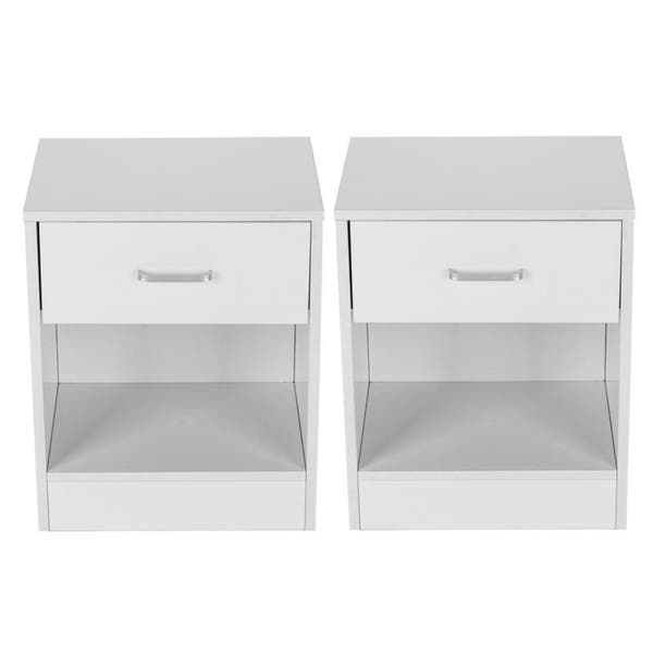 46 White Bedside Tables Nightstands Set Of 2 Pics
