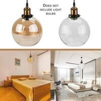 Ball Shade Pendant Light 20 Diameter Vintage Industrial Glass Ceiling Lamp