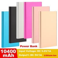 Ultrathin 10400mAh Portable Mobile Phones Power Bank External Battery Charger
