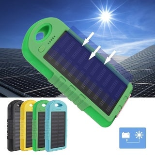 Dual USB Port Outdoor Camping LED Light 300000mAh Solar Phone Power Bank