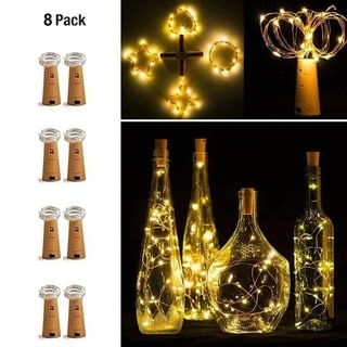 8PCS 20 LED Battery Micro Rice Wire Copper Fairy String Lights