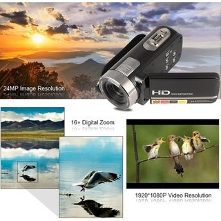 3inch LCD Screen 24MP Night Vision 1080*720P Digital Video Camcorder Camera