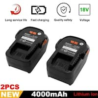 2 Pack 18V 4.0Ah Lithium-Ion Battery For RIDGID R840087 R840085 R840083