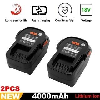 2 Pack 18V 4.0Ah Lithium-Ion Battery For RIDGID R840087 R840085 R840083