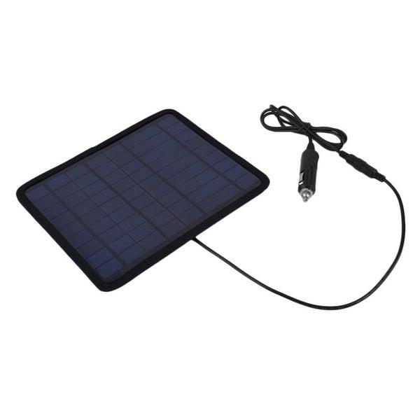 Portable 12V 5W Solar Panel Power Monocrystal Backup Charger Kit For Car Battery