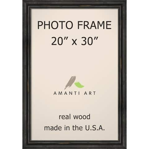 Picture / Photo Frame, Rustic Pine Narrow Black