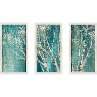 """Blue Birch Horizontal"" by Julia Purinton Framed Acrylic Wall Art Set - Green"