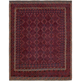 Hand Knotted Sumak Wool Area Rug - 4' 10 x 6' 3